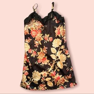 90s vintage floral slip mini dress